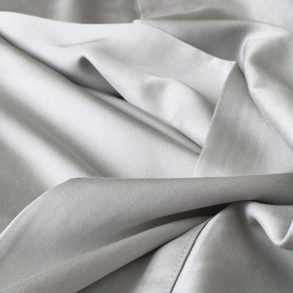 Organic Bamboo Sheets - silver detail