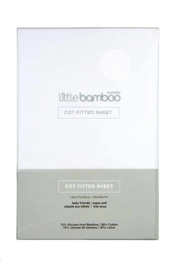 Bamboo fitted cot sheet