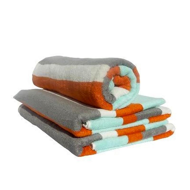 Aqua, Grey And Orange