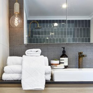 bamboo cotton towels - white