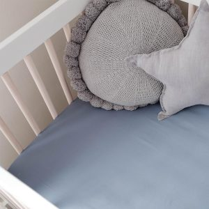 Bamboo cot sheet - Chambray