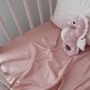 Bamboo cot sheet - Rose