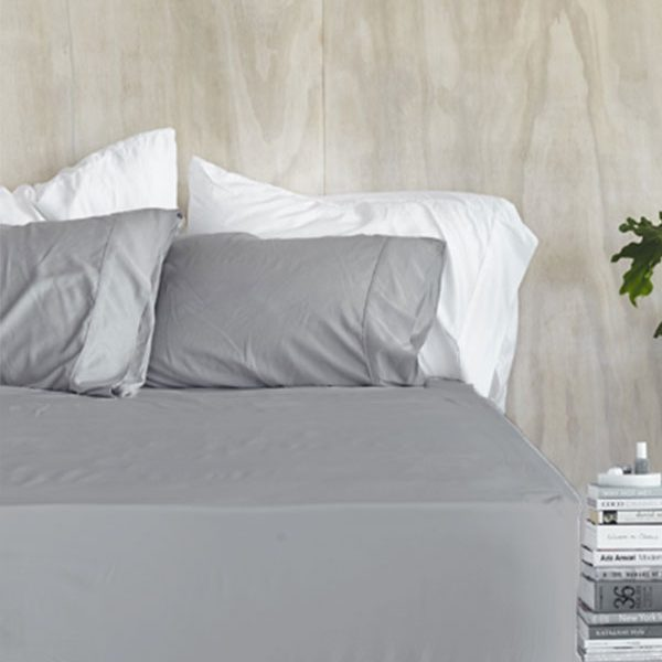 Exceptional Steel Fitted Sheet Set. Organic Bamboo ...