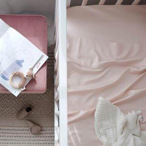 Cot sheet - blush