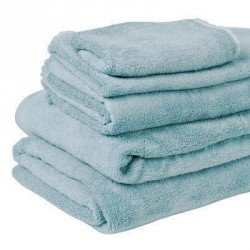 bamboo towels - sky blue
