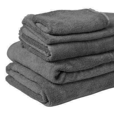 bamboo towel - charcoal