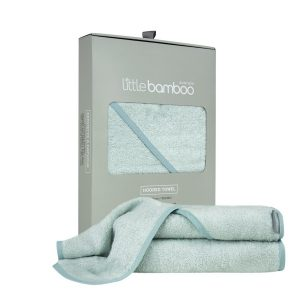 bamboo hooded towel - whisper