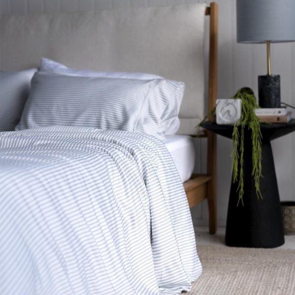 Bamboo Quilt Cover - fog stripe