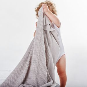 Textured-Knit-Blanket-Silver