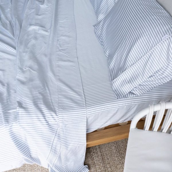 Bamboo Sheet Set - fog stripe