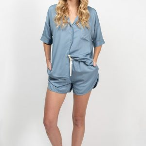 Bamboo Summer Sleepwear Set - Chambray