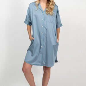 Bamboo shirt dress - Chambray