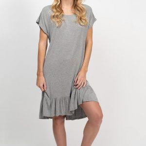 Bamboo Tee Dress - Grey Marle