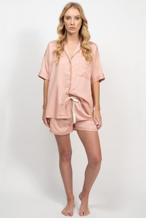 Bamboo Summer Sleepwear Set - Rose