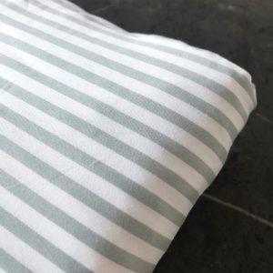 Bamboo cot sheet - fog stripe