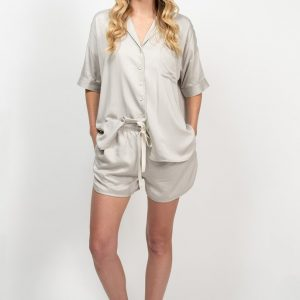 Bamboo Summer Sleepwear Set - Silver