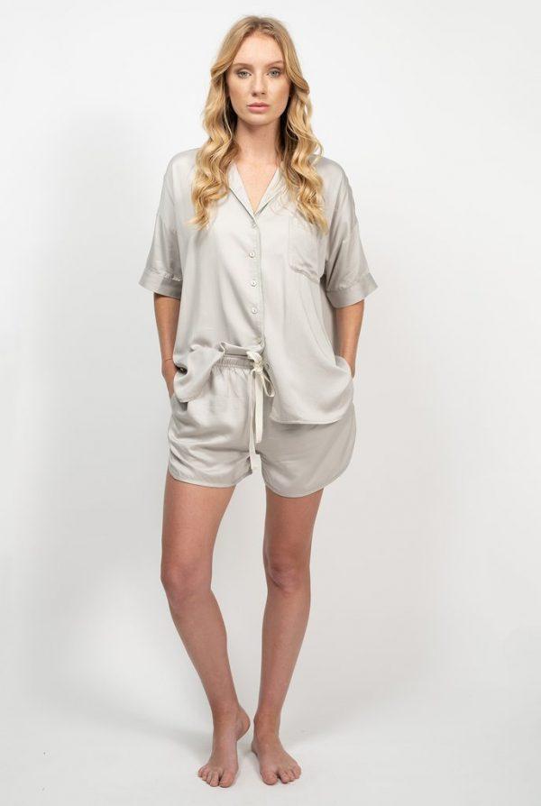 Bamboo Summer Sleepwear Set - Silver
