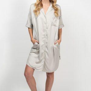 bamboo shirt dress - silver