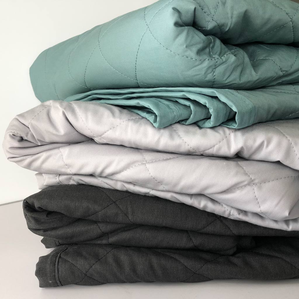 Bamboo Lightweight Quilt - Teal Pewter Charcoal