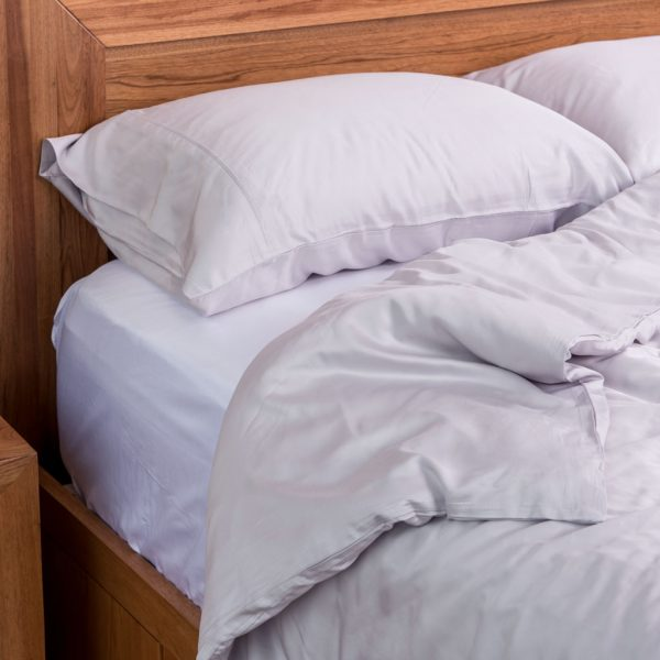 Bamboo Quilt Cover Set -Silver