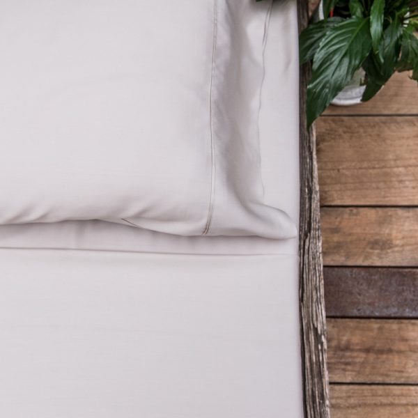 bamboo sheet set - silver shimmer