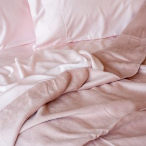 Organic Bamboo Throw - Rose Dust