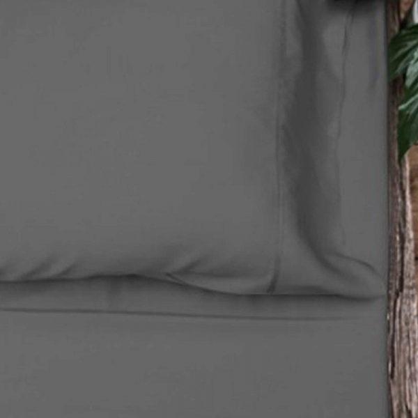 Bamboo Pillowcase Set - Charcoal