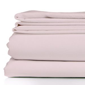 bamboo sheet set - blush pink