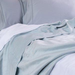Bamboo Blanket - Opal Blue