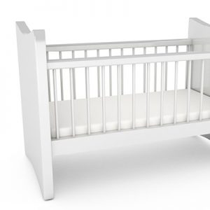 bamboo cot sheet set - white