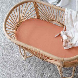 bamboo bassinet sheet - Rust