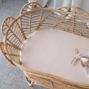 bamboo bassinet sheet - Blush