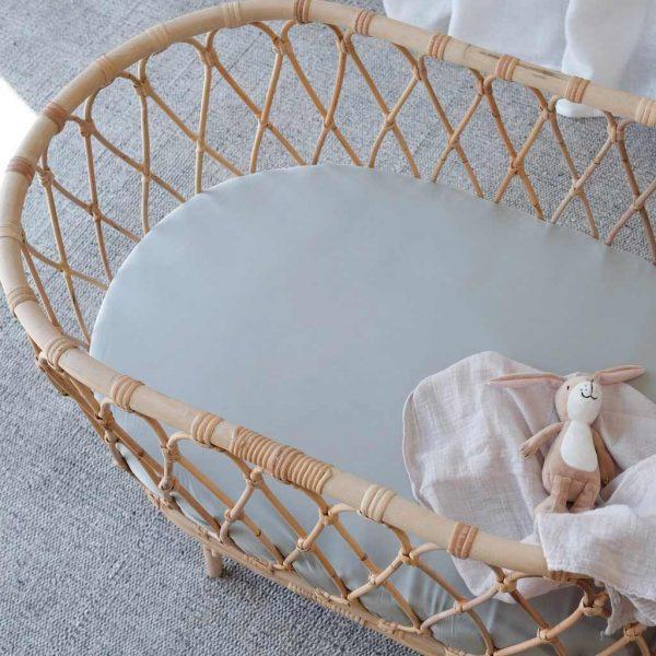 bamboo bassinet sheet - Ocean