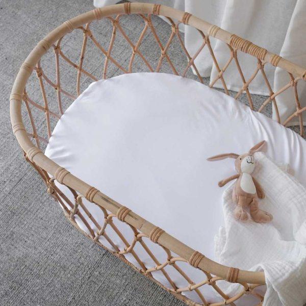 bamboo bassinet sheet - white